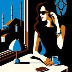 ✿Time For Coffee & Tea✿ Malika Favre ~ Orient Express Art And Illustration, Illustrations And Posters, Inspiration Artistique, Orient Express, Arte Popular, Art Graphique, Art Design, Female Art, Art Inspo