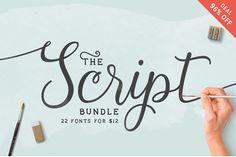 Script Fonts Bundle so zľavou 93%! - https://detepe.sk/script-fonts-bundle-so-zlavou-93/