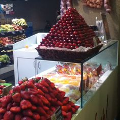 Fruit at the Mercado de San Anton, Madrid. #Spanish #food