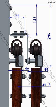 5 6 6 6 8ft Bypass Sliding Barn Wood Closet Door Rustic Black Hardware | eBay                                                                                                                                                      More