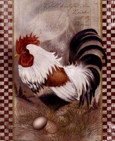 Coat Of Many Colors Rooster Art Print by Alma Lee at Urban Loft Art