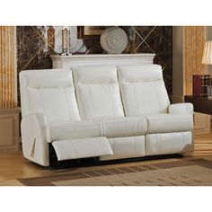 The Toledo Leather Lay Flat Reclining Sofa Has Leather And Features  Pillow Top Padded Arms And High Resiliency Foam For Optimal Comfort. It Has  A Plush ...
