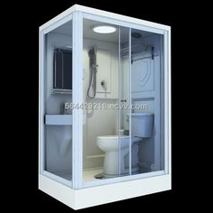 Transforming Small Bathrooms In Just 6 Easy Steps - prefab bathroom pod. Prefab All In One Bathroom Mini Bad, Bathroom Plans, Bathroom Bath, Casas Containers, Tiny Bathrooms, Small Bathroom Storage, Tiny Spaces, Wet Rooms, Tiny House Living