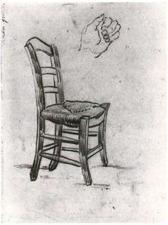 Vincent van Gogh Silla y bosquejo de una mano Drawing …