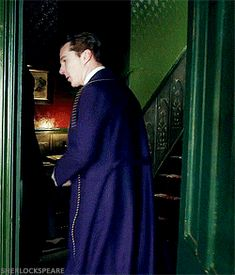 SHERLOCK (BBC) ~ Benedict Cumberbatch as Sherlock Holmes in the pre-Season 4 special, SHERLOCK: THE ABOMINABLE BRIDE. [GIF]