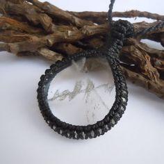 Clear Quartz Necklace.Macrame necklaceclear by WrapMeACrystal