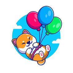 catalyst (@catalystvibes) • Instagram photos and videos Pug, Dachshund, Shiba Inu, Floating Balloons, Balloon Cartoon, Cartoon Styles, Smurfs, Illustration, Design Art