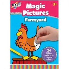 Galt - Magic Picture Pad - Farm - Toys and Games Ireland Outline Pictures, Wooden Dice, Hidden Pictures, Farm Toys, Travel Toys, White Pages, 8 Year Olds, Travel Activities, Farm Yard