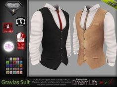 Sims 4 Men Clothing, Sims 4 Male Clothes, Sims 4 Cas, Sims 1, Sims 4 Hair Male, Sims4 Clothes, Look Formal, Sims Four, Vest And Tie