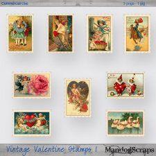 Vintage Valentine Stamps 1 cudigitals.com cu commercial scrap scrapbook digital graphics#digitalscrapbooking #photoshop #digiscrap #scrapbooking