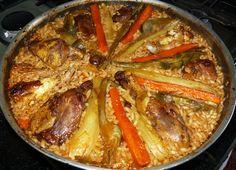Paella di Pollo e Carciofi - http://cucinasuditalia.blogspot.it/2010/11/paella-di-pollo-e-carciofi.html