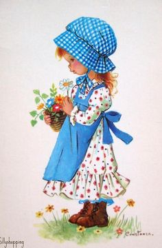 Holly Hobbie ~ Pretty in Blue Holly Hobbie, Vintage Pictures, Vintage Images, Vintage Art, Cute Images, Cute Pictures, Sara Kay, Vintage Illustration, Vintage Children