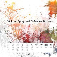 Бесплатные кисти Photoshop с эффектом распыления