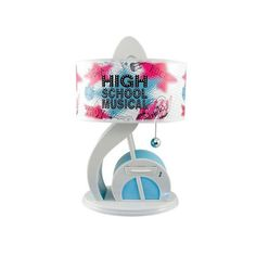Fans of High School Musical can now listen to music on their desktop with this cool lamp that includes a built-in amplifier.Just plug in your MP3 player, Disney Mix Sticks or iPod and play your music through the powerful built-in amplified speaker of this clever desk lamp. Built-in LED night light feature. * Tough ABS construction. * Decorative pull chain. * Built-in night light (music note lights up next to MP3 drawer). * Plug in your MP3, Disney Mix Stick, or Ipod and play * Takes one 40…