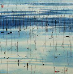 #片刻、宁静#© 汪钰元,著名画家,擅彩墨、水彩画。   一个人的马戏团_绘画_新浪轻博客