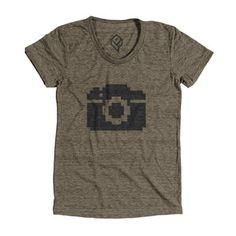 Camera Tee Women's Tri-Coffee, $21, now featured on Fab.