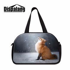 Dispalang Cute Travel Duffle Bag for Women Cute Fox Printing Shoulder  Handbag Cool Cloth Travel Bags 7970d052ec