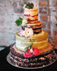 This Naked Milk Bar Cake looks SO delicious + would be an excellent creative dessert idea for wedding receptions.