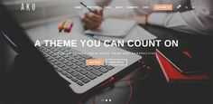 19+ Awesome WordPress Themes with Large Typography | PSDTemplatesBlog