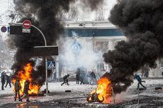 Апокаліпсис на Грушевського.  Найкращі фото часів ЄвроМайдану | Українська правда