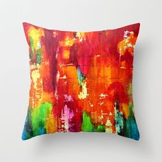 Reflets II Throw Pillow by sandrapachon - $20.00