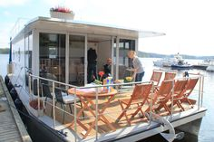 Book a unique holiday in the Lakeland of Finland with a self-driving houseboat! Houseboats, Self Driving, Finland, Relax, Book, Unique, Outdoor Decor, Holiday, Home Decor