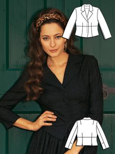 Burda Style: Havana Nights: A Cropped Jacket with hidden buttons covers up skimpy tops without throwing off your look.