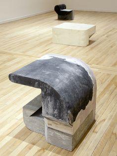 Ikadobin , 2014 béton, mousse et toile / concrete, foam, canvas 61 x 61 x 53,5cm / 24 x 24 x 21 in