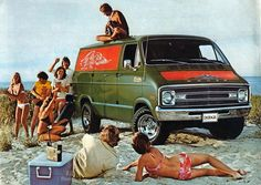 Vintage Dodge Van Ad