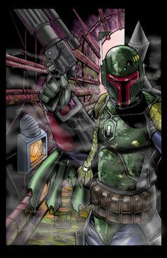 boba fett 022 Star Wars   Boba Fett in Artwork   The Ultimate Badass!