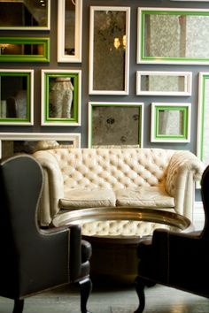 from the blog gal meets glam : love this classic interior.  even though it's from the viceroy hotel, we could so see this look duplicated in a home...