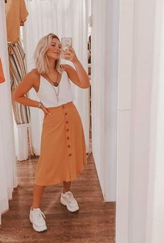 Casual Fall Outfits, Modest Outfits, Skirt Outfits, Modest Fashion, Spring Outfits, Trendy Outfits, Cool Outfits, Fashion Outfits, Look Hippie Chic