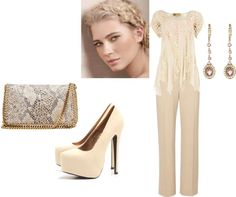 nude, created by naomirpease on Polyvore
