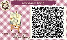Newspaper Lining - Animal Crossing New Leaf QR Code