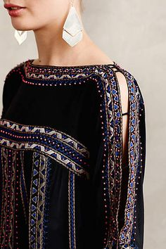 pretty detail, edge trim and open shoulder seam by nanette lepore ~ Brezons Silk Tunic - anthropologie.com