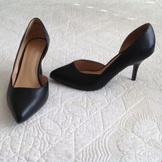 EUC Lane Bryant Black Heels size 9W Shoes 9 W These shoes have been only worn a couple of times. Great condition, all man made materials. Lane Bryant Shoes Heels