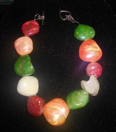Mother of Pearl Bracelet by TrendyCharm on Etsy