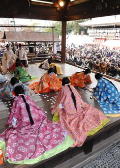 Karuta Hajime - Karuta is traditional Japanese playing cards. On the 3rd of New Year, Japanese little girls in ancient kimono playing karuta.