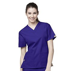 Origins by WonderWink Women's Bravo Lady Fit V-Neck Solid Scrub Top XXX-Large Grape- #fashion #Misc. find more at lowpricebooks.co - #fashion