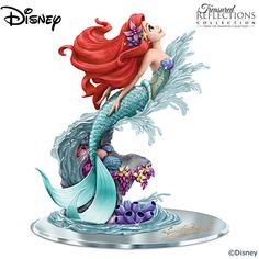 Disney The Little Mermaid Ariel Beauty Under The Sea Figurine. Mermaid Decorations For Bedroom Living Room etc. Ariel Disney, Princesa Ariel Da Disney, Deco Disney, Disney Little Mermaids, Cute Disney, Disney Magic, Disney Pixar, Disney Frozen, Ariel Mermaid