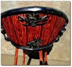 pirate bar stool | Pirate Bar/Tavern Stool Man Cave Furniture Chair | Home Theater and ...