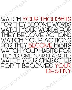 Printable Watch Your Thoughts Word Art by WalkingInFaith777, $2.00