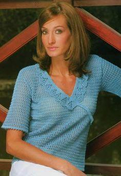 блузка крючком 2011