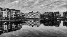 Last Fall I was in Dublin  With me my brand new iPhone 7  I just took this random shot and edited it right on my iPhone using the Lightroom Mobile App. The detail and contrast of this iPhone's camera is just stunning. This photo shows the buildings around the grand canal in Dublin. I really love the reflection on the water in this photo!   #dublin #grand #canal #photography #iphoneography #iphonephoto #lightroom #iphone7 #ireland #bw #blackandwhite #blackwhite #black #white #mirror #water…