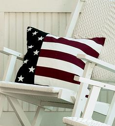Stars & stripes throw pillow