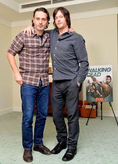 (左から)アンドリュー・リンカーン、ノーマン・リーダス:(c)TVGroove.com