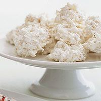 Top 25 Most Popular Holiday Cookie Recipes - Every Day with Rachael Ray Coconut Snowball Crisps Holiday Cookie Recipes, Holiday Desserts, Holiday Cookies, Holiday Baking, Christmas Baking, Christmas Sprinkles, Christmas Sweets, Christmas Recipes, Christmas Time