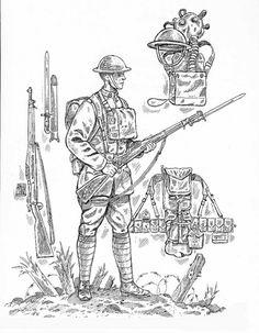 Pencil Drawing Of World War 1 Paul Ballard 1914 1918 Pinterest