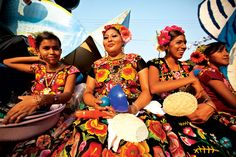 Muxes: males in feminine roles and outfit in the city of Juchitan (Oaxaca, Mexico) where the women are in charge