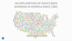 """Interactive Visualization: """"Working in America,"""" by GE Data Visualization. Explore by sector, gender and age, from International Migrants Day, Data Dashboard, United Way, Data Visualization, Cartography, Educational Technology, Thought Provoking, America"""